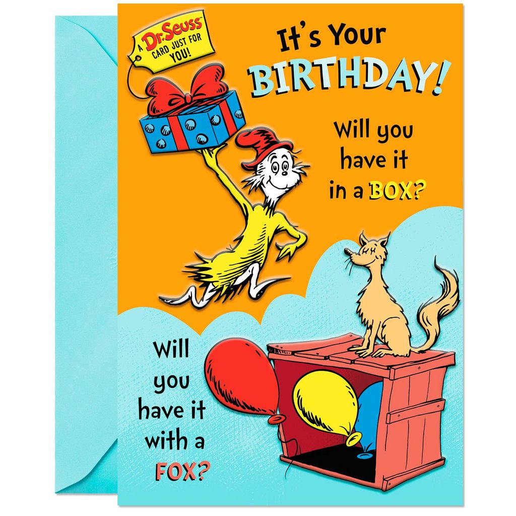 Dr Seuss Booklet Birthday Card In