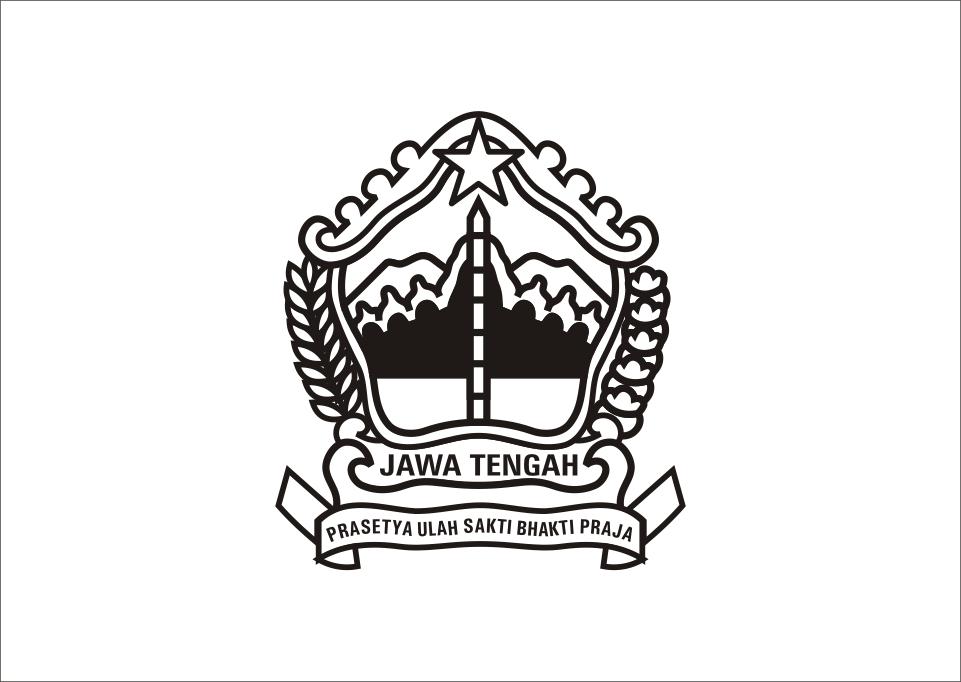 Logo Jawa Tengah hitam putih Vector Hitam