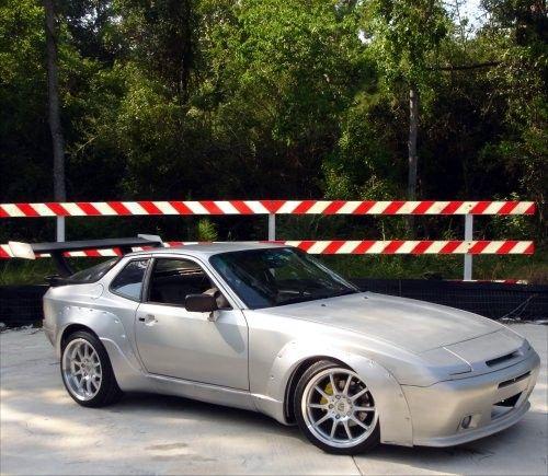 Silver Porsche 944 Widebody Gt Wing Porsche 944 Porsche Porsche 924
