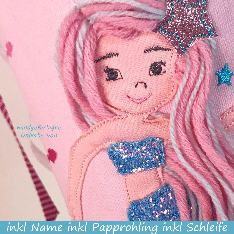 Schultüte Stoff mit Meerjungfrau   Schultüte stoff ...