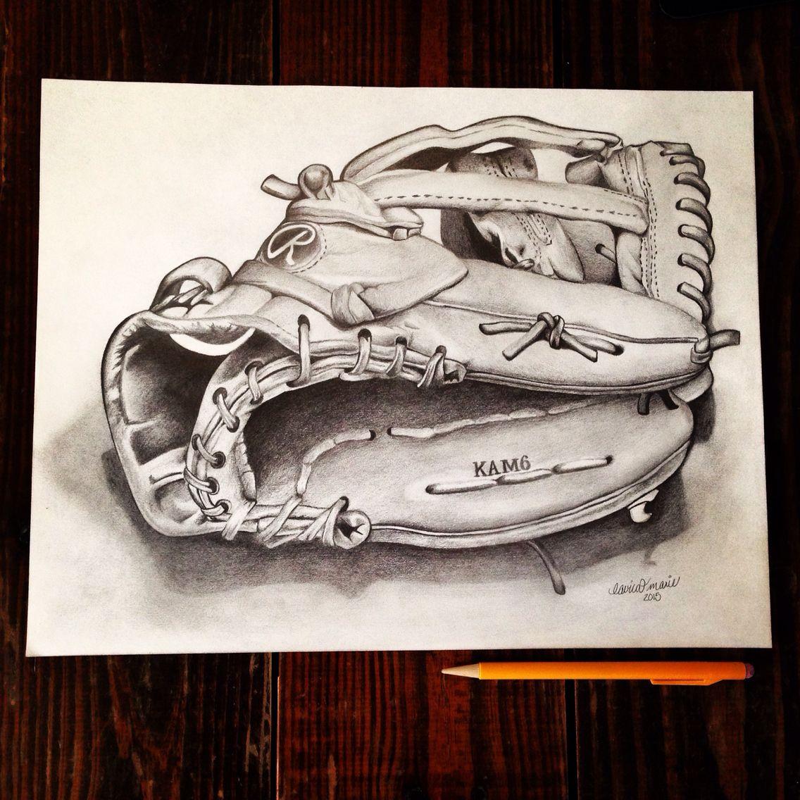 Baseball Glove Drawing Baseball Drawings Gloves Drawing Baseball Glove
