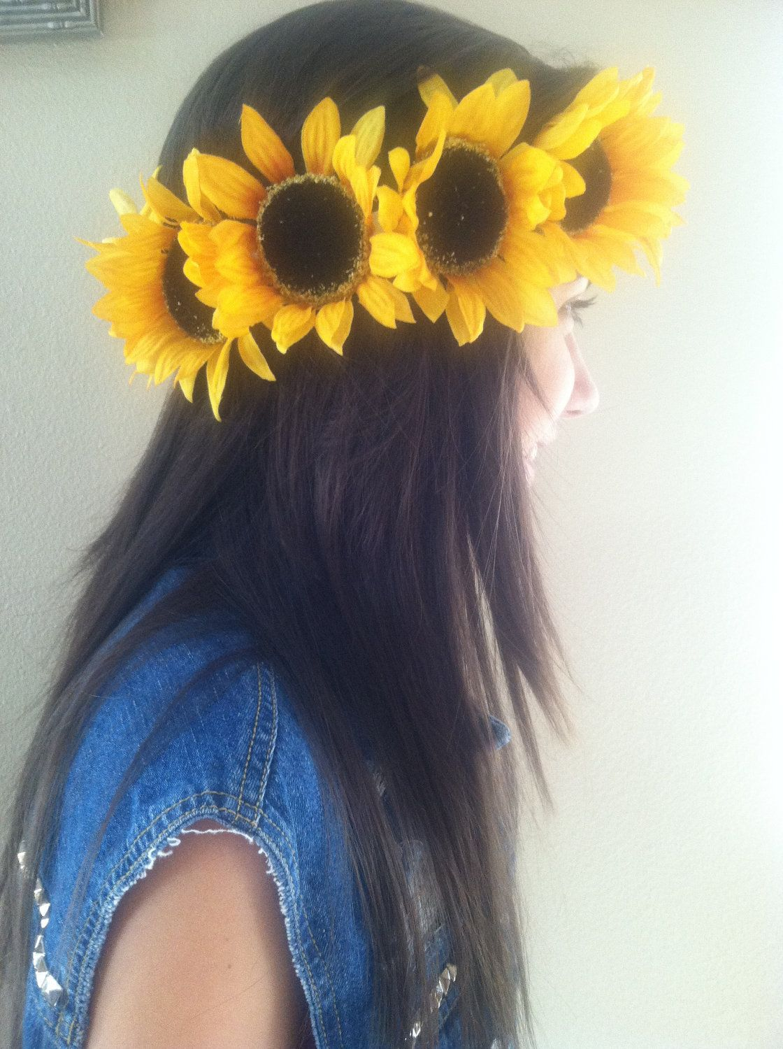 Sunflower Crown: Perfect for Festivals, Raves, and Halloween. $16.00, via Etsy.