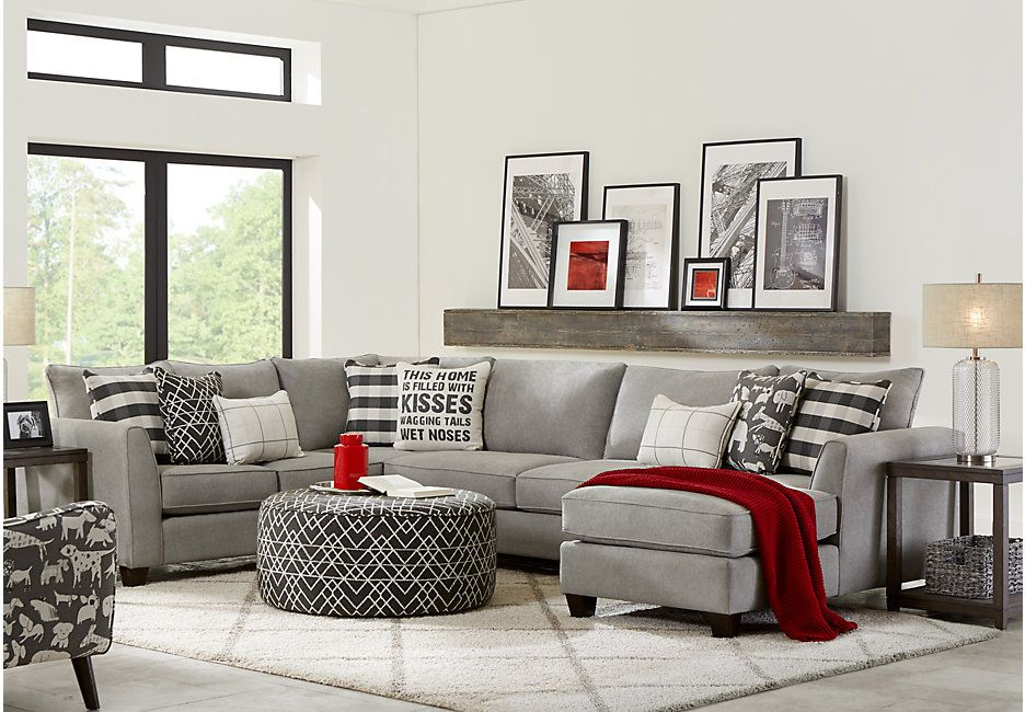 Barkley Heights Gray 3 Pc Sectional | For the Home - Living Room ...