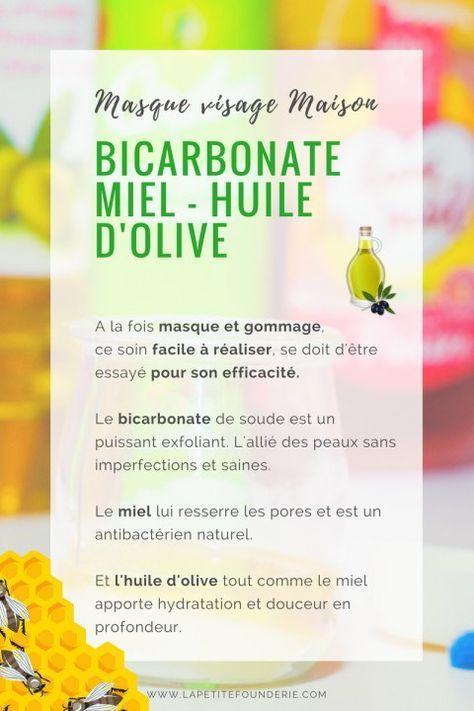 Masque visage Bicarbonate Miel huile d\u0027olive Masque de visage - faire un plan de maison facilement