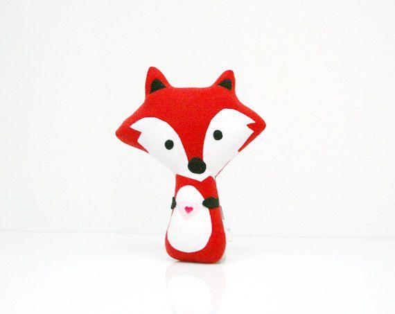 Fox Pillow  Fox Doll  Fox Toy  Fox Plush  Fox by WinterPetals,