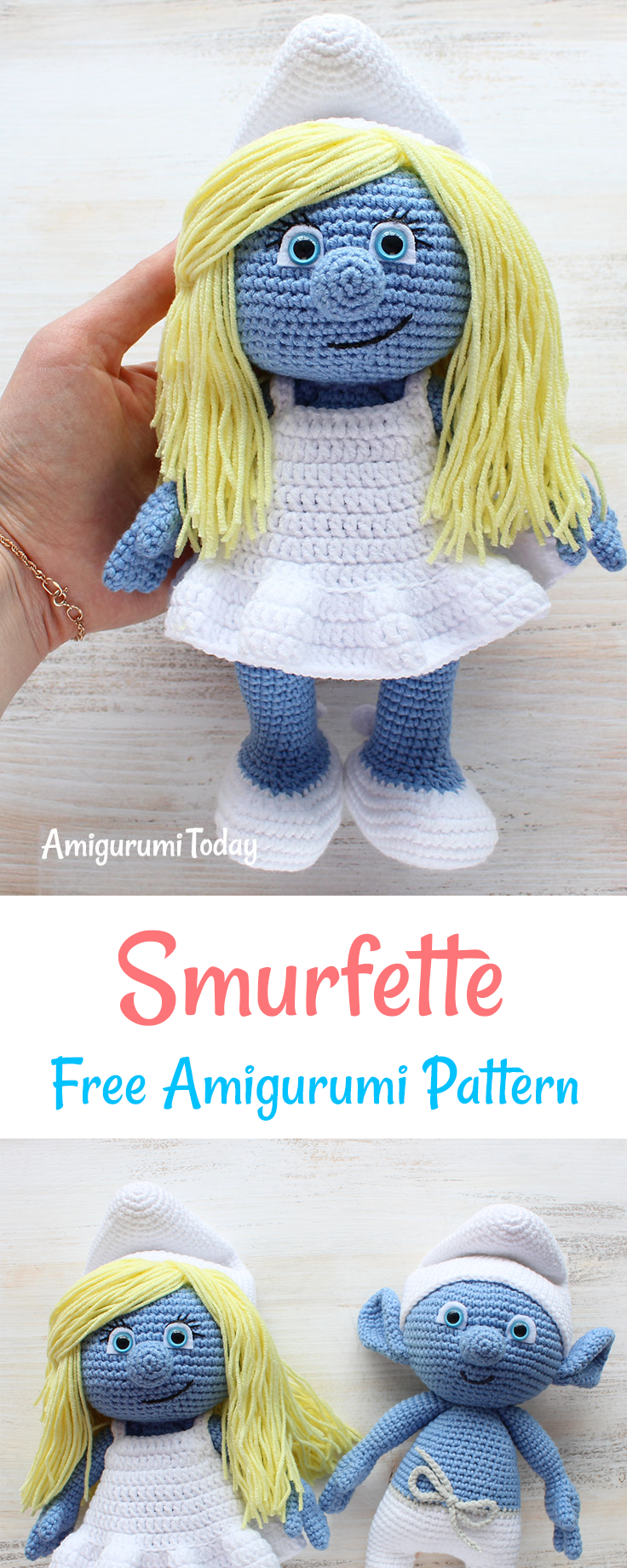 Let your mind wander into the fancy world of the smurfs with this schtroumpfette let your mind wander into the fancy world of the smurfs with this super soft crochet smurfette use our amigurumi pattern to create the bankloansurffo Image collections