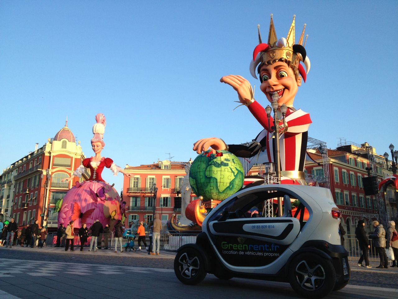 Renault Twizy, Carnaval de Nice, Greenrent, Location de voiture