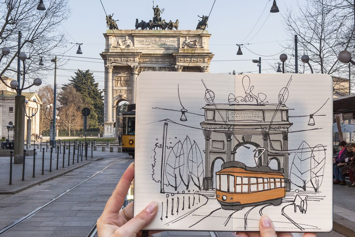 Arco della pace moleskine milan milan city