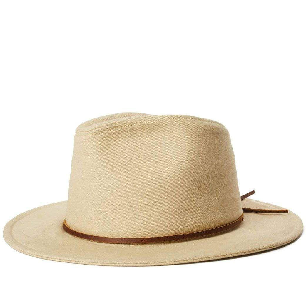 Brixton Wesley Cotton Fedora Hat Light Khaki Fedora Hat Fedora Brixton Fedora