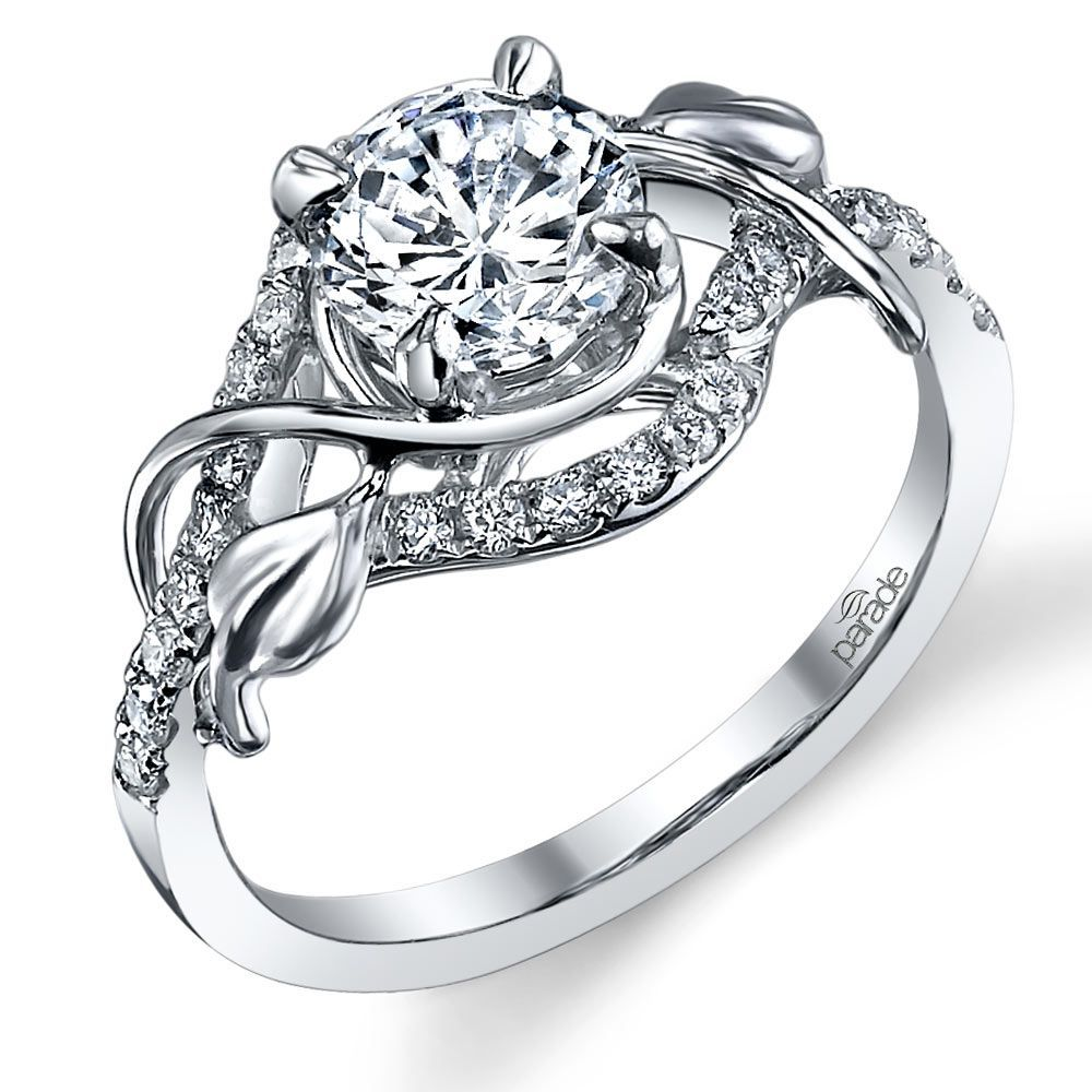 Wrapping Vine Diamond Engagement Ring in White Gold by