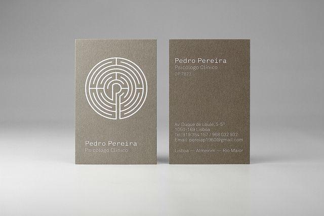 Pedro Pereira Psychologist Card Psychology Business Card Psychologist Business Card Psychotherapy Business Cards