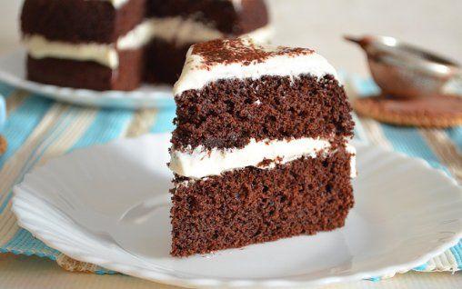 Retete Culinare - Tort cu ciocolata si cappucino