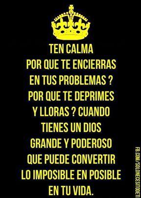 Manten  Calma.