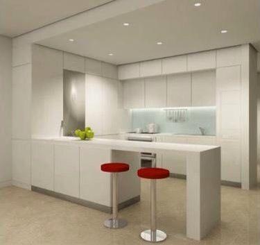 Muebles de cocina blancos con gola y silestone blanco zeus, una de ...