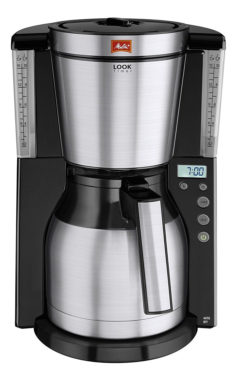 Melitta 1011-16 Look IV Therm Timer Coffee Filter Machine - Black ...