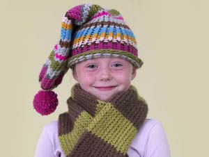 797d299c2e5 Loom Knit - Knifty Knitter Round Loom Striped Toboggan Cap - Simplify by  using fewer colors.