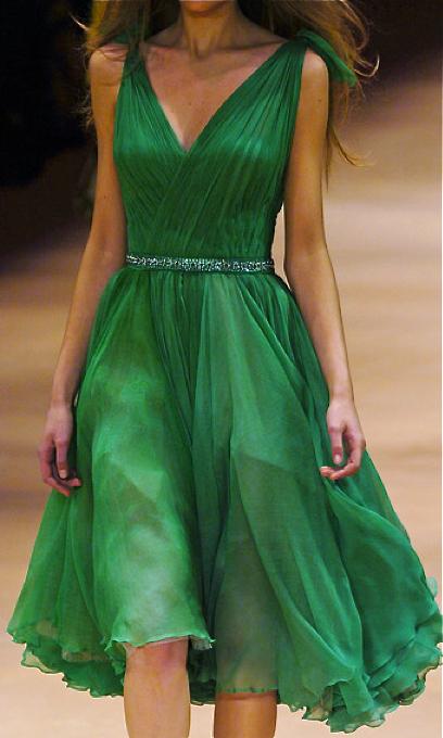 Alexander McQueen Emerald Dress
