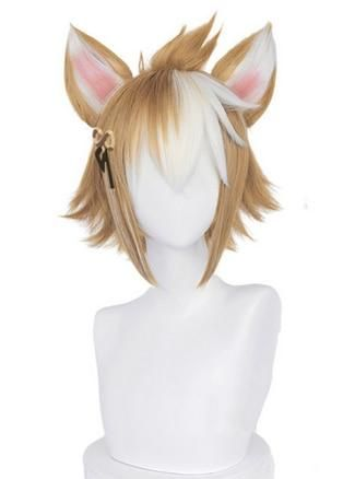 Photo of Genshin Impact Gorou Cosplay Wig – Wig with Hair Ears / One Size