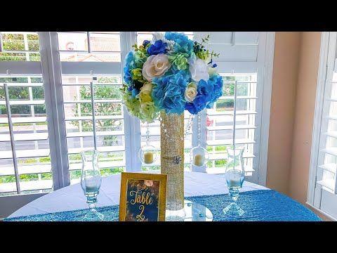 Diy Bling Wedding Centerpiece Dollar Tree Youtube Centerpieces
