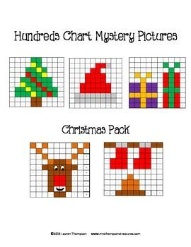 FREE Rudolph Hundreds Chart Mystery Picture - practice place value ...