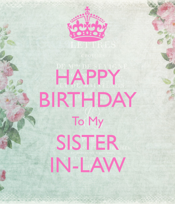 happybirthdaytomysisterinlaw.png (600×700) Happy