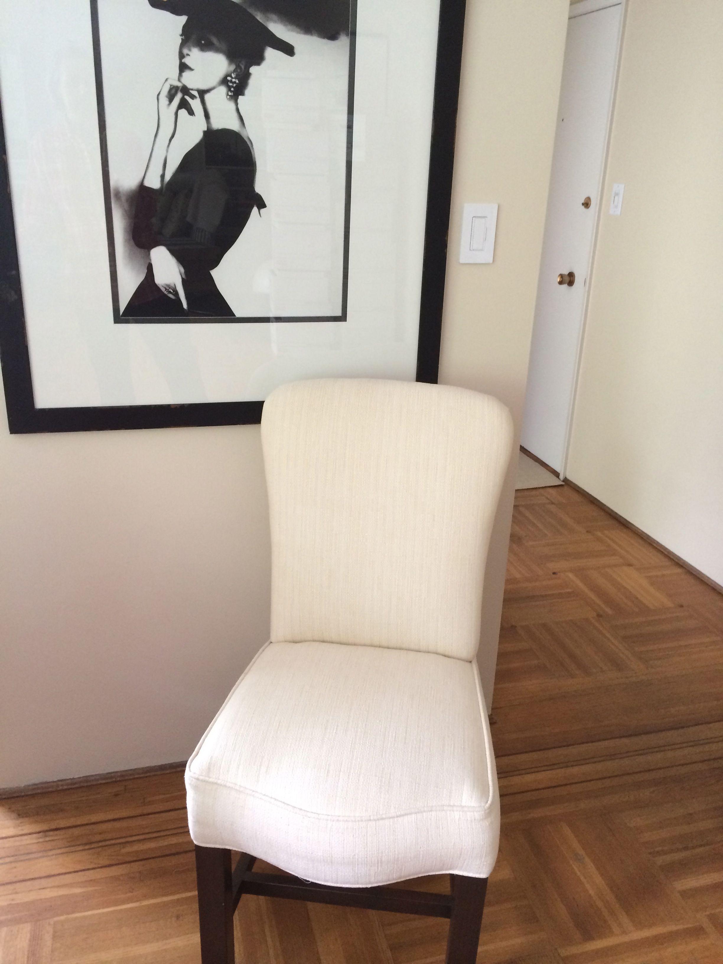 2014 . cream dining chair, floors, Bassman photograph