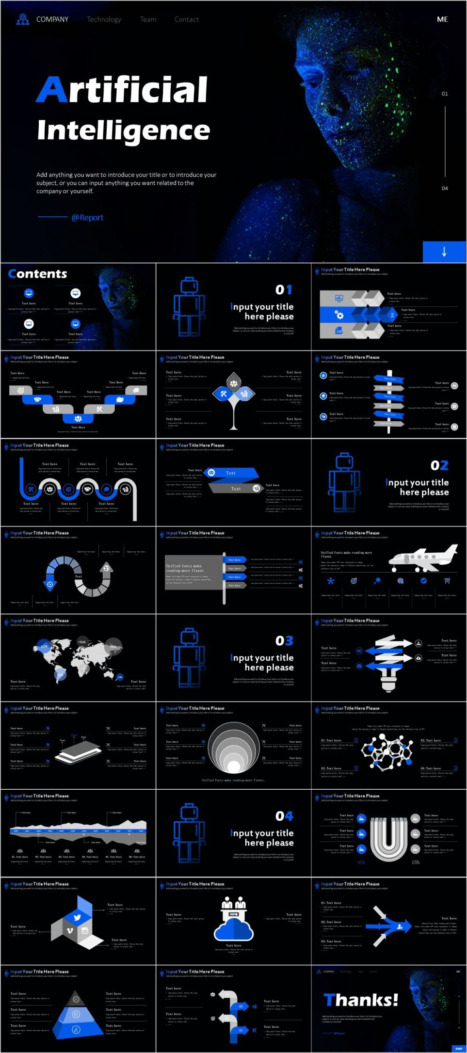 Artificial Intelligence Powerpoint Template Learn Artificial