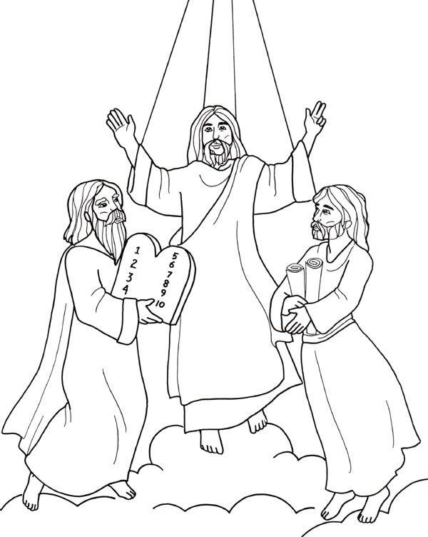 Trasfigurazione Di Gesu 1 Jpg 600 752 Sunday School Coloring