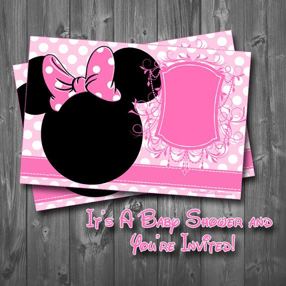 minnie mouse baby shower invitation  baby showers mice and babies, invitation samples