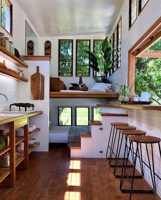 1 Stunning Tiny House Interior Design Ideas Tiny House Living Room Tiny House Decor Tiny House Living