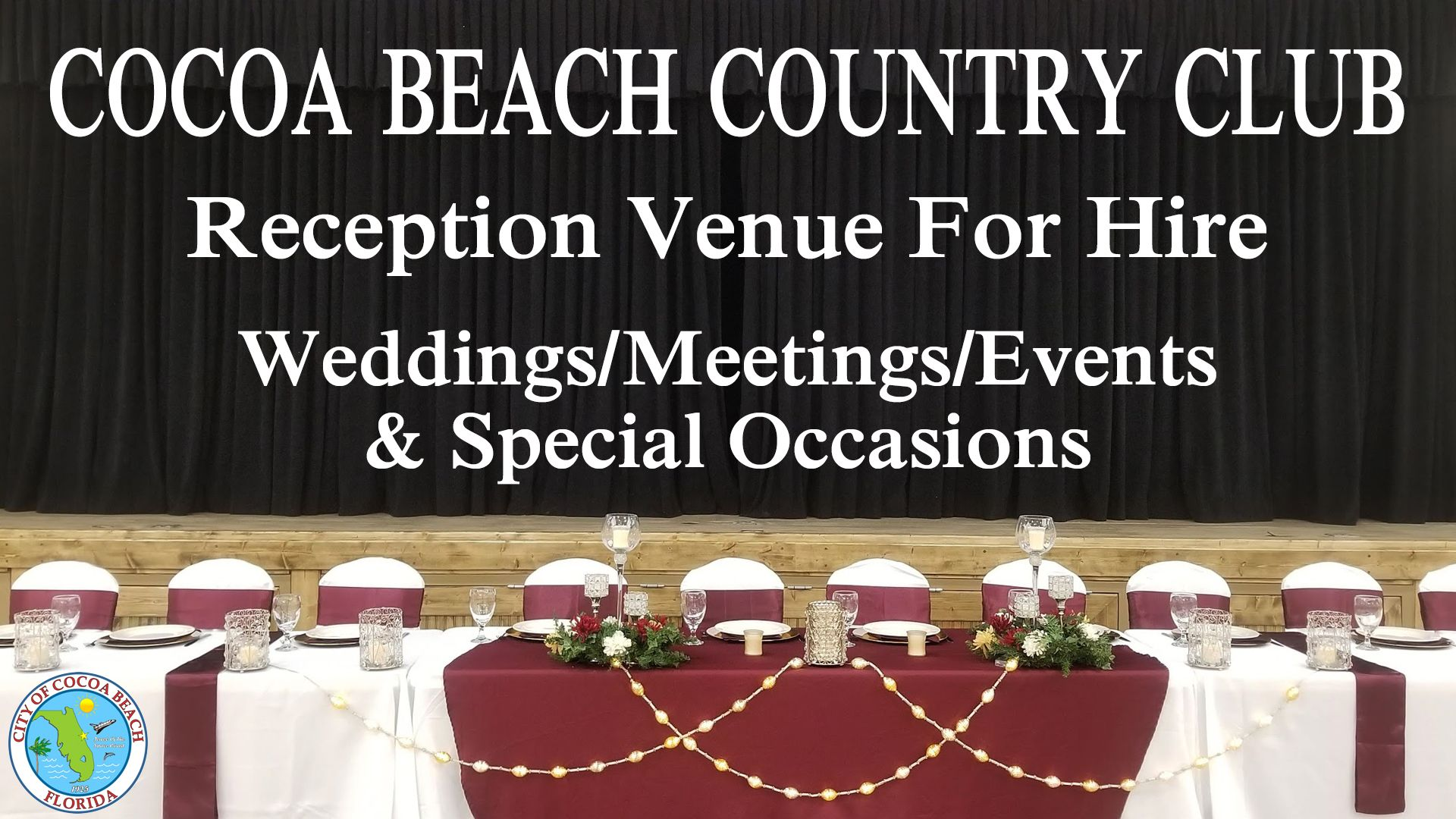 WEDDING VENUES COCOA BEACH Cocoa beach, Wedding venues