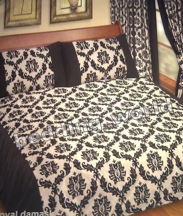 SINGLE BED DUVET COVER SET ROYAL DAMASK FLORAL VELVET EFFECT LUXURY EMBELLISHED | eBay