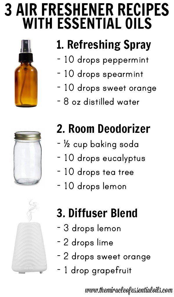 3 Diy Essential Oil Air Freshener Recipes Essential Oils Room Spray Essential Oil Spray Air Freshener Recipes