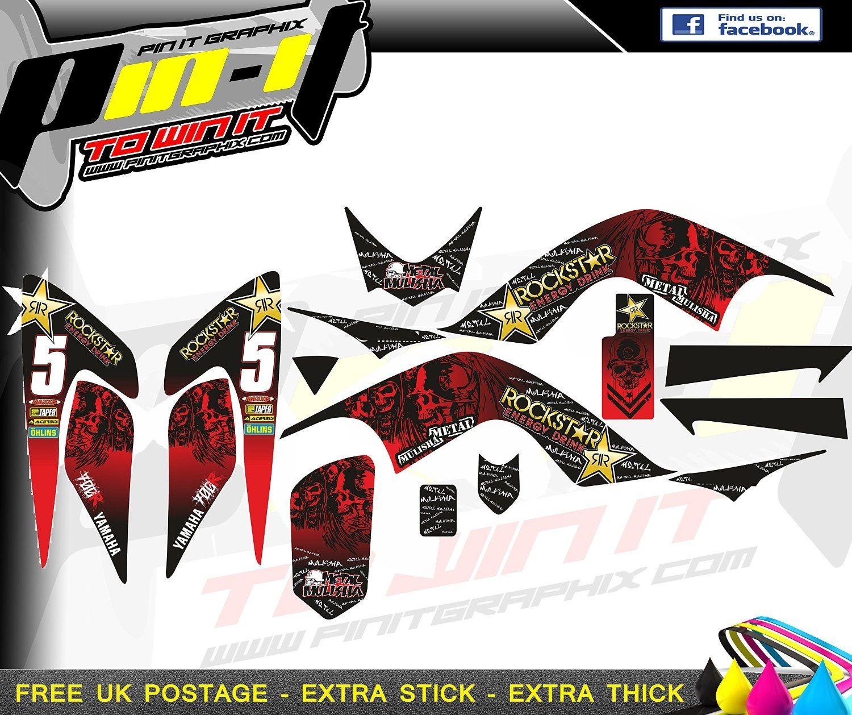 Yamaha bike sticker designs - Yamaha Raptor 700 Sticker Kit Decals Motocross Stickers Yfm 700 Graphics