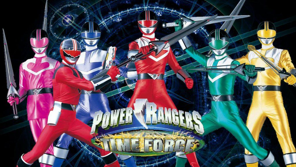 Here To Power Rangers Time Force Wallpaper That I Edited From Screenshot Of Super Megaforce Opening Theme Note Cant Find Blue One So Add New