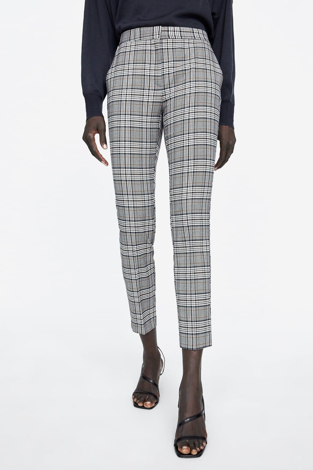 65abe198 Check skinny trousers in 2019   Mum holliers   Pants, Trousers ...
