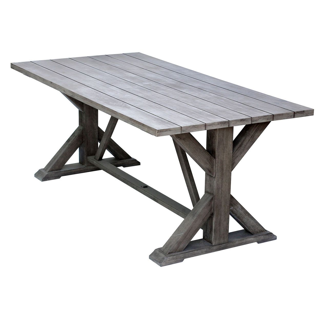 Black wood patio furniture - Find This Pin And More On Outdoor Patio Space Camden Wood Trestle Table