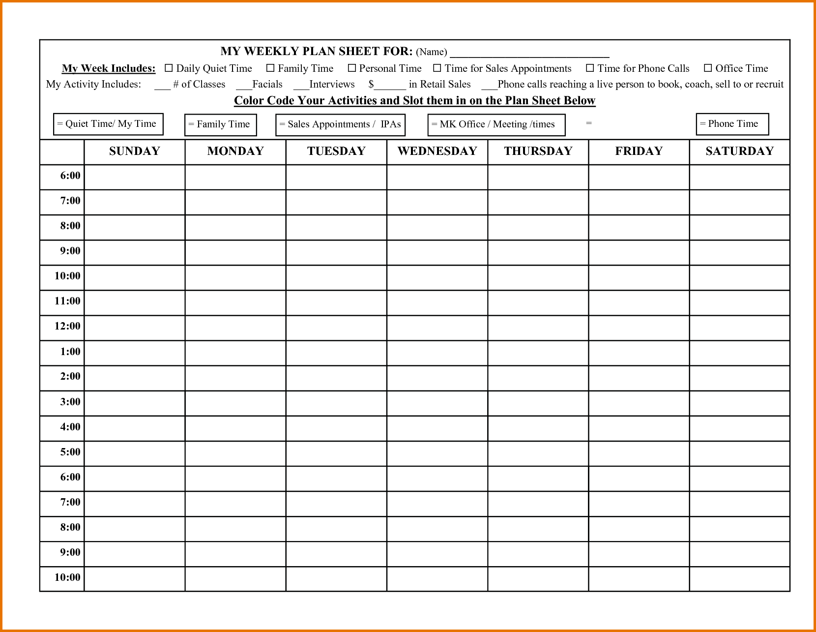 Daily Sales Call Report Template