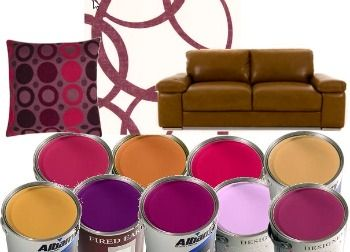 Tan And Purple Color Scheme My Living Room Is Painted All White I Have A Couch Chair Recliner Has Weird Shape To It