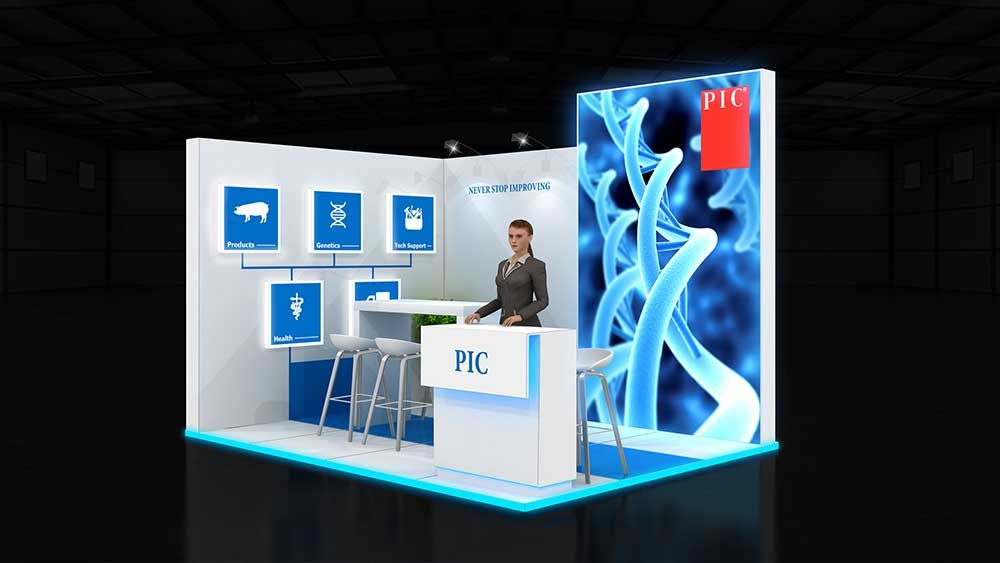 Simple Exhibition Stall : Simple exhibition booth design ideas from expo exhibition