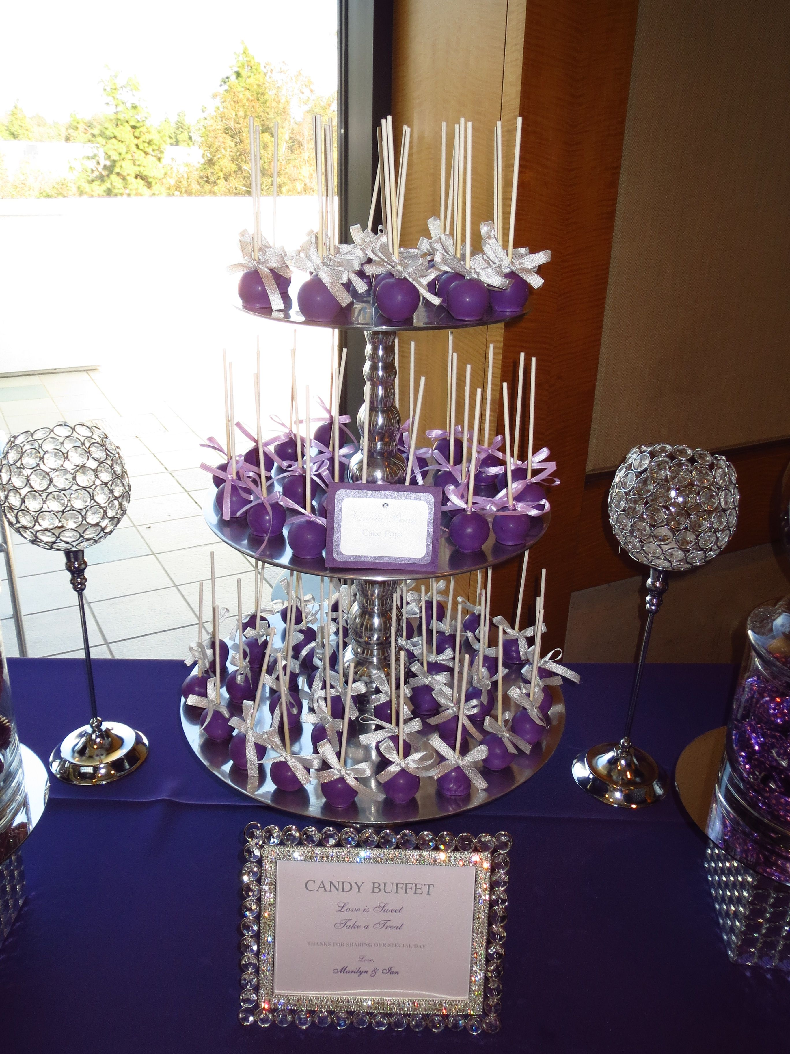 Pin By Oc Sugar Mama On Purple Candy Dessert Table Purple Candy Buffet Wedding Candy Buffet Table Wedding Purple Candy Table