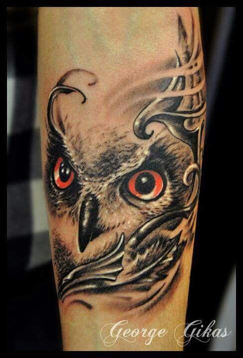 Pin By Patty Rosario Halligan On Tattoo Tattoos Owl Leg Tattoos