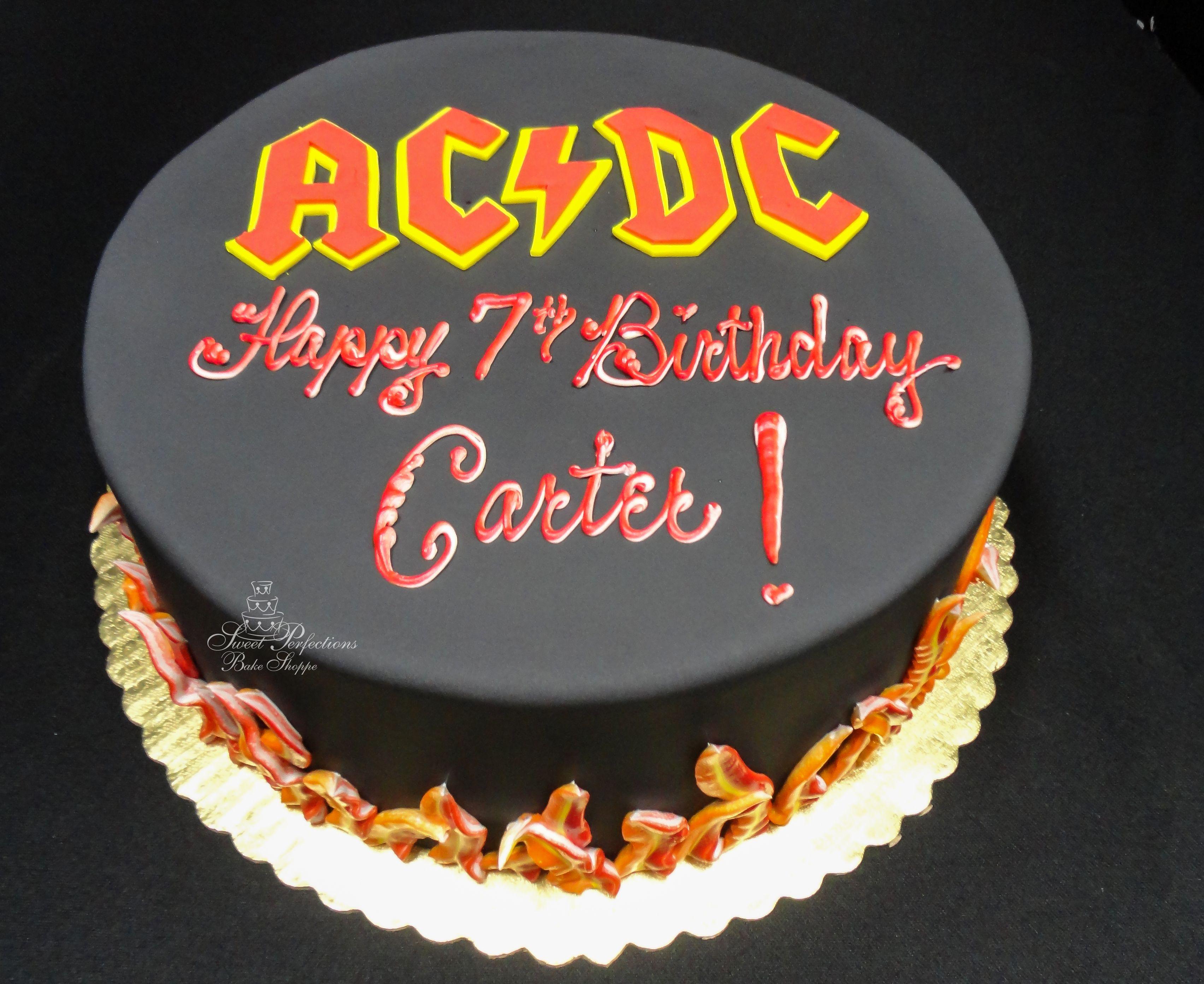 Custom ACDC Birthday Cake by SweetPerfections in Waukesha