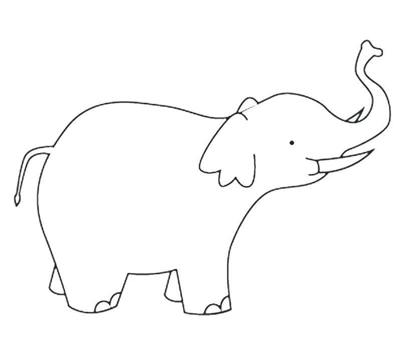 Elefante con colmillos: Dibujos para colorear | PLANTILLAS ...