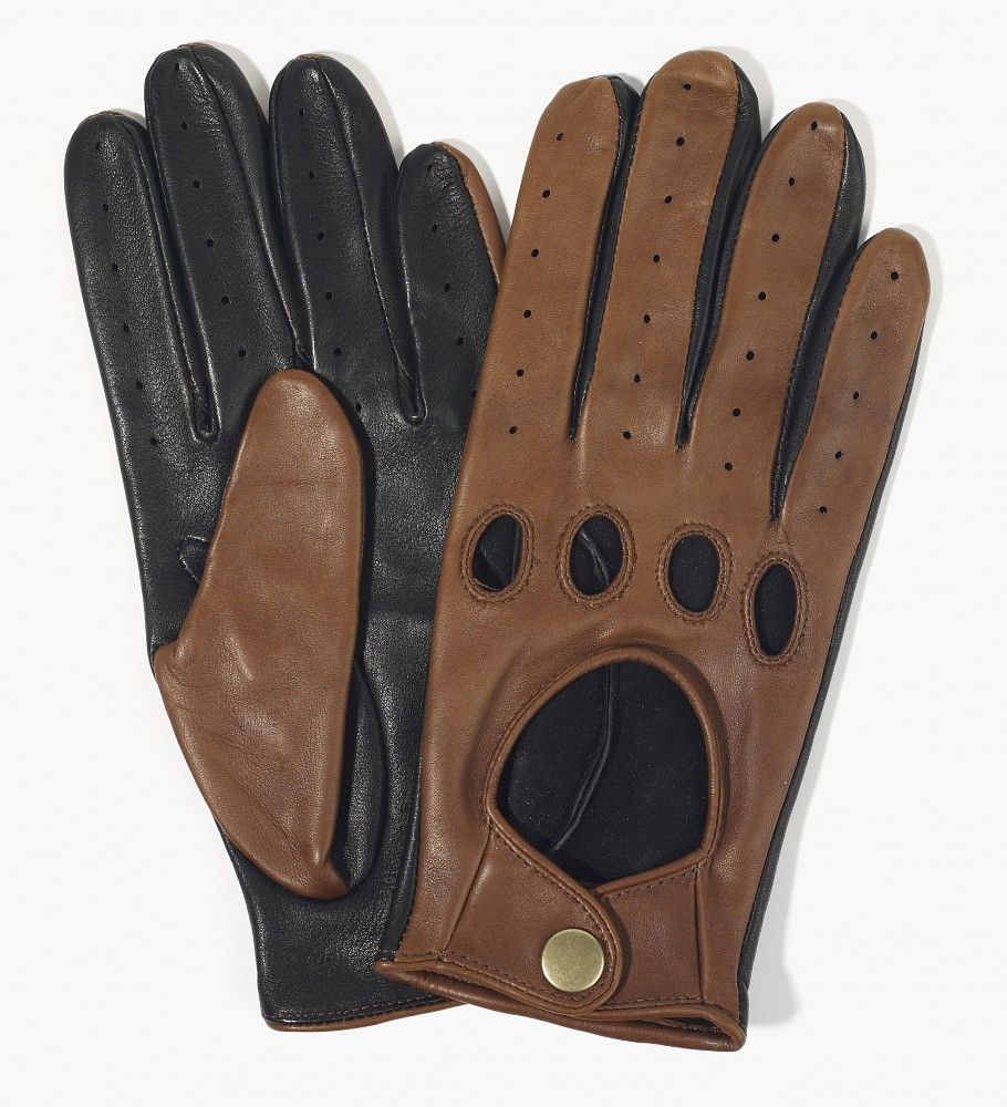 Mens Driving Gloves Unlined Genuine Leather Chauffeur Retro Style Dress Glove