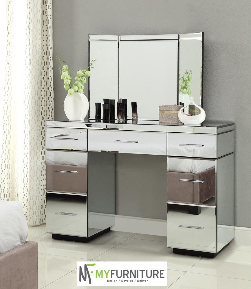 Furniture Vanity Tables With Mirror Mirrored Vanity Table