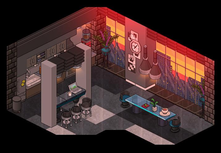 Modern Kitchen By Cutiezor Habbo Habblet Pixel Art