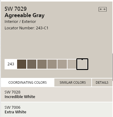 Sherwin Williams Agreeable Gray For The Walls Extra White