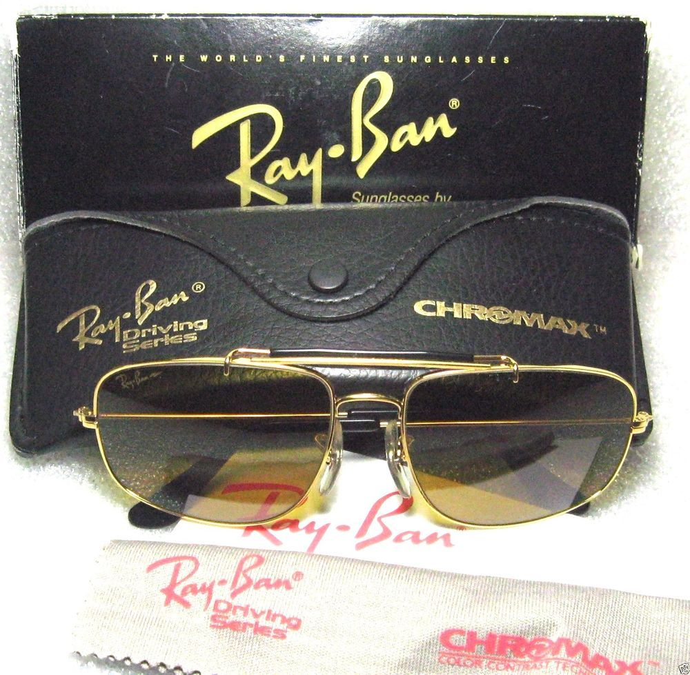 eca5dbf5f4 RAY-BAN VINTAGE B L AVIATOR CHROMAX EXPLORER W1699 DRIVING NEW in BOX  SUNGLASSES  RayBanbyBauschLomb  AviatorExplorerW1699