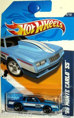 Hot Wheels 1980s Chevrollet Monte Carlo AeroCoupe White w//Huge Wing 1//64 Scale